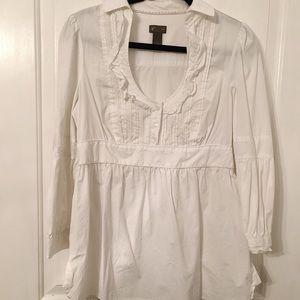Fei for Anthropologie ruffled blouse